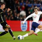 City's Todd Cantwell gets involved after making his debut for England Under-21s as a second half sub