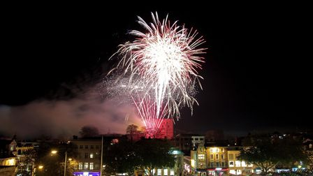 Norwich Big Boom 2018 fireworks from the balcony of City Hall. Photo: Danielle Booden