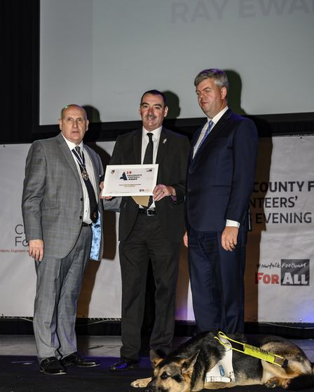 Swaffham's Ray Ewart, Highly Commended Volunteer of the Year Picture: Christiaan Partridge Photogra