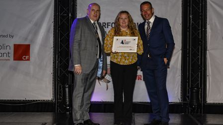 Norfolk Womens & Girls Football League Highly Commended Grassroots Project of the Year. Louise Rise