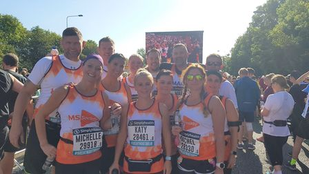 A fantastic effort - the group of 18 travelled from Lowestoft to Newcastle and raised over £10,000 f