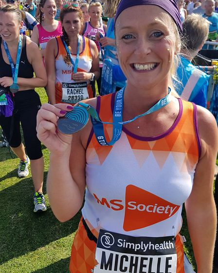 Mrs Lansdale said she kept her training and entry in the half-marathon secret from her friends.