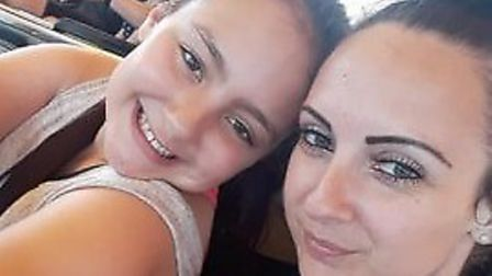 Daniella Tye and her daughter Kezia Wildey-Tye, 11, who was told by the Hewett Academy in Norwich th