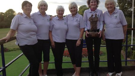 Pictured from left to right at the final charity competition at the old Royal Norwich are Linda Aske