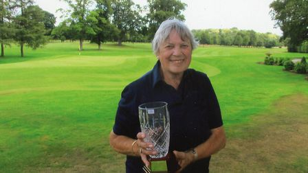 """Diana """"Wendy"""" Buckingham was the first winner of the new Ladies' Octogenarian Trophy at Sprowston Ma"""