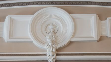 Decorative work around one of the rooms in the Provincial Freemason Grand Lodge of Norfolk, which ha
