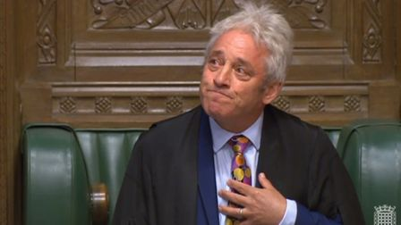 Speaker John Bercow announces that he will stand down during an an impassioned speech in the House o
