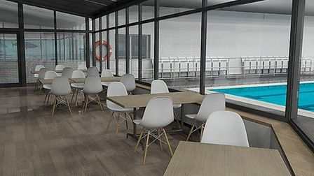 There will be a new sauna and improved pool side viewing areas which are air conditioned and glass f