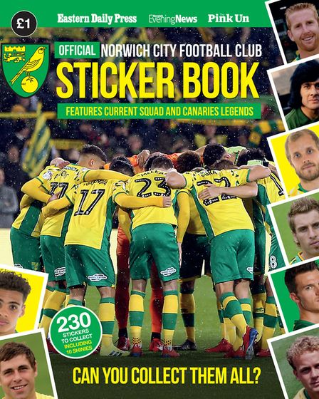 The official Norwich City sticker book.