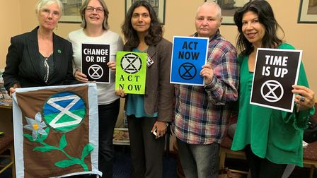 Members of Extinction Rebellion King's Lynn and Downham Market attended a meeting on Tuesday, Septem