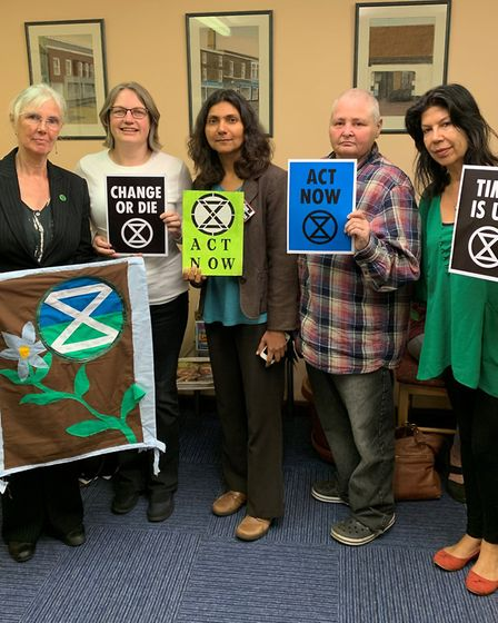 Members of Extinction Rebellion King's Lynn and Downham Market attended a Downham town council meeti