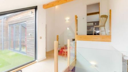 A contemporary house with a rooftop terrace has come on the market in Norwich. Photo: abbotFox