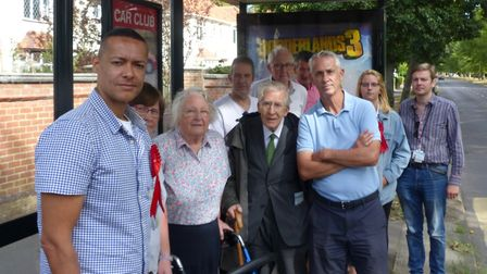 Norwich South MP Clive Lewis joins councillor Roger Ryan and campaigners in protesting changes to tw