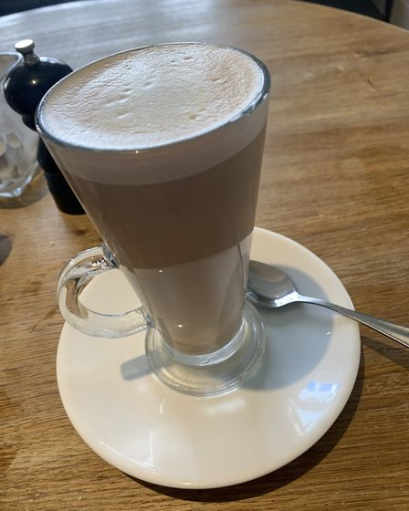 We followed our meal with a cafe latte at the White Horse in Blakeney, Norfolk. Picture: Stuart Ande