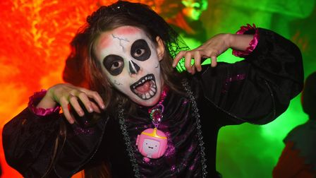Nicola Gibson, eight, at the 2017 Spooky City Halloween event. Picture: DENISE BRADLEY