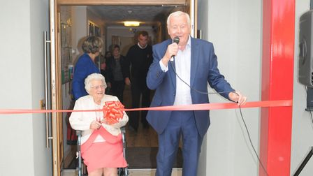 Blofield Heath stalwart Lily Barnes reopens the refurbished Heathlands Community Centre and Social C