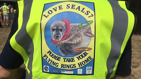 New hi-vis vests are helping to spread the message about flying rings and seals Picture: Liz Coates