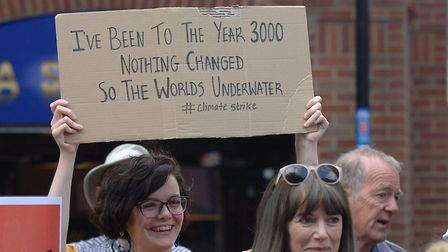 A woman's placard foretells the future Picture: Chris Bishop