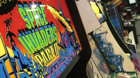 Space Invaders at the entrance to Retro Replay in Norwich's Castle MallPicture: Neil Perry