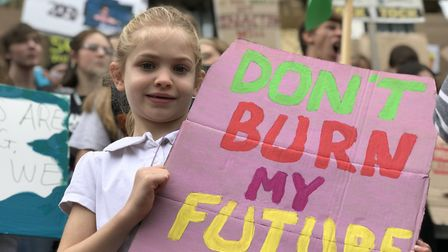Skipping school to send a message to politicians at the Fridays for Future climate protest in Norwic