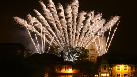 Thousands of people fill the streets of Norwich for the Big Boom fireworks display. PHOTO BY SIMON F