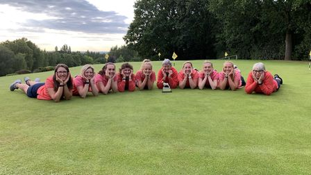Norfolk Ladies pose for a team picture at Aspley Guise in Bedfordshire after winning County Week for