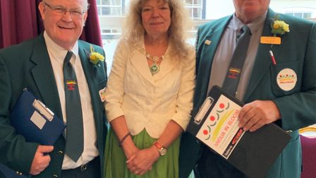 Anglia in Bloom judges with Deputy mayor of Downham Market, Jenny Groom (centre). Picture: Sarah Hus