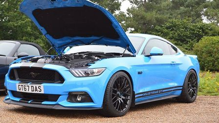 A Ford Mustang at Norfolk Coffee and Cars. Picture: Sammie-Jo Webster