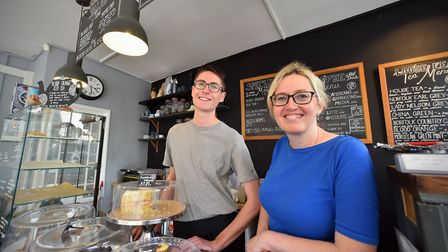 Nick and Sharon Fawcett at Storm in a Teacup, which is closing, Elm Hill. Picture: Jamie Honeywood