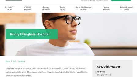 Ellingham Hospital is run by The Priory Group. Image: Priory Group website