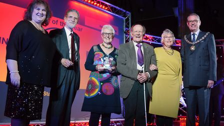 The chatterbox Talking Newspaper team, winners of the Team of the Year award at the Stars of Norfolk