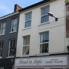 13 Magdalen Street, where sash windows have been replaced with PVCu encasing. Picture: Archant