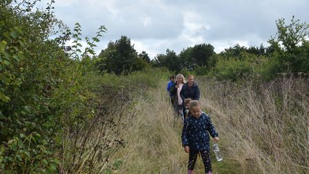 A group of parents from Kessingland have made the walk several times to prove it is inaccessible. Ph