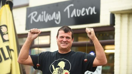 Paul Sandford, landlord of the Railway Tavern in Dereham, is organising a conkers championship later