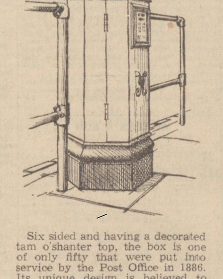 An extract from the Eastern Daily Press dated November 1, 1962, writing about the post box. Picture:
