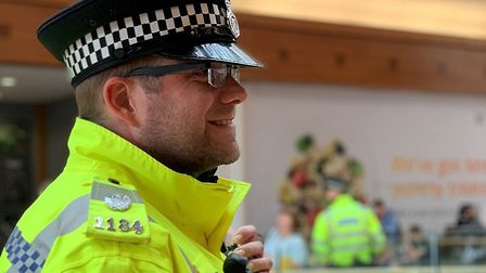 Police at Chapelfield shopping centre as part of Operation Servator.Norwich Police Twitter.