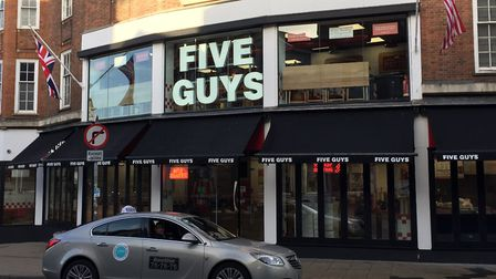 Jill Horne was amazed when a Norwich Five Guys worker confronted thieves who stole cash from her pur