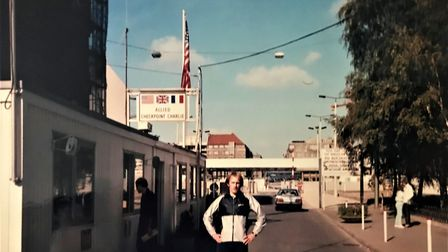 Neil Featherby Checkpoint Charlie in Berlin. Picture: Neil Featherby