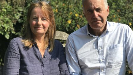Judith and Nick Taylor, from Buxton, whose son Charlie has Down's Syndrome. Picture: Neil Didsbury