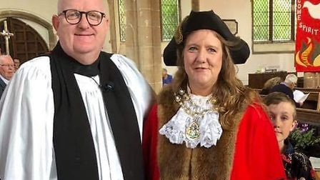 Rev Rich Henderson pictured with Andrea Downes, Picture: Contributed