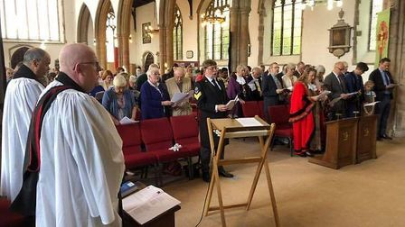 The civic service was held at St Michael's Church in Beccles. Picture: Contributed