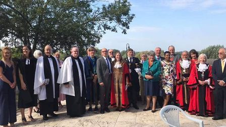 The community welcomed Beccles mayor Andrea Downes on September 22. Picture: Contributed