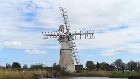 An afternoon on the Broads. Pictured is the Thurne Dyke Mill on the river Thurne. Picture: Ian Burt
