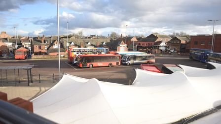 King's Lynn bus station where a doctor from the QEH was racially abused. Picture: Ian Burt
