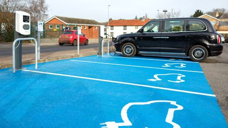 Electric vehicle charging stations installed by South Norfolk Council. Picture: South Norfolk Counci