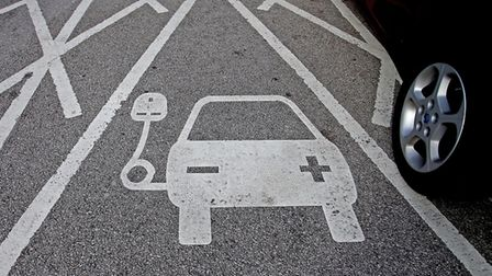 Electric vehicle charging points: Picture: Archant