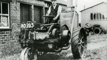 """A """"unique and fanous"""" 1903 Ivel Agricultural Motor tractor is expected to fetch up to £250,000 at th"""