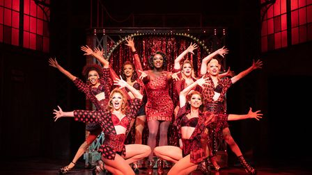 Kayi Ushe as Lola with the Angels in Kinky Boots Credit: Helen Maybanks