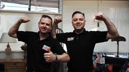 Jamie McGuffog (left) and Terry Hills at Beds of Paradise in Downham Market Picture: Chris Bishop
