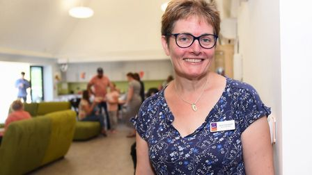 Jane Campbell, service manager at The Nook hospice, at the open day for families who will use its fa